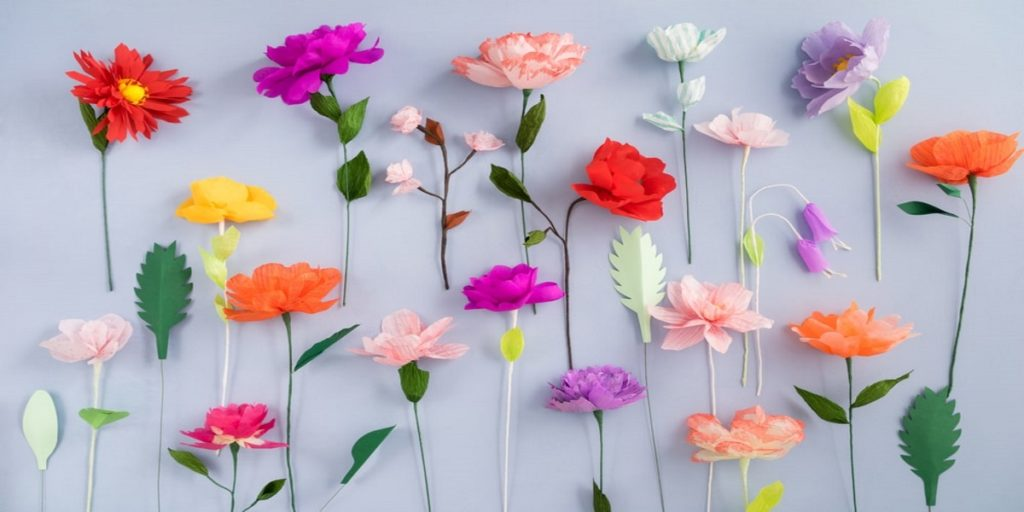 How to make a tissue paper flowers easy