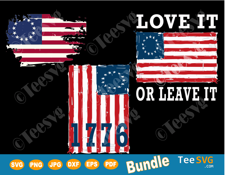 Betsy Ross 1776 SVG Betsy Ross Flag SVG 13 Stars Vintage US American Flag Shirt Decal
