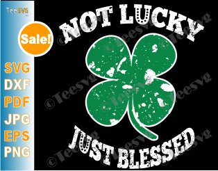 Not Lucky Just Blessed SVG Cut Files St Patricks Day Matching Family Group