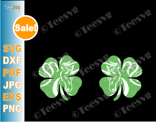 Unicorn Shamrock SVG Boobs Irish St.Patrick's Paddys Day HTV Vinyl Design