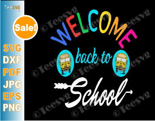 Welcome Back To School SVG Cute Teacher design