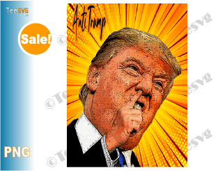 Trump Caricature PNG Free Anti Trump Pop Art Funny Meme Design Gifts