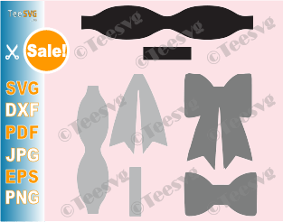 Bow Template SVG Bow SVG Bundle Hair Bow Template Cut File Leather Hair Vector