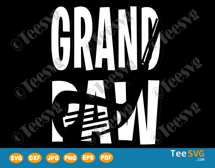 Grand Paw Dad golf SVG Funny Father's Day Golf Gift For Grandpa Golfer