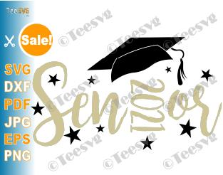 Senior 2021 SVG Cut File Graduation Cap Design Gift