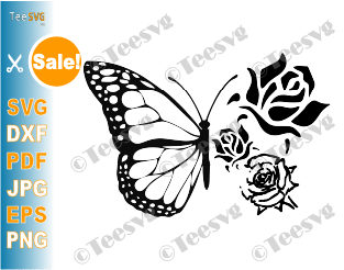 Floral Butterfly SVG Butterfly Flowers PNG Cut Files For Cricut Butterflies Wings Insect Bugs Vector Images gift