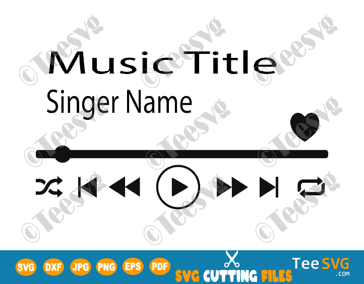 Music Player SVG File Media player PNG Acrylic Song Art Glass Song Art Track Display SVG Files for Cricut Sublimation prints download