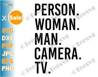 Person Woman Man Camera TV Anti Trump SVG PNG Design for Shirt T-Shirt