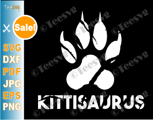 kittisaurus Lulusaurus SVG Shirt Funny Cat Lovers Gift Cats Breeds Sitting DD Merch