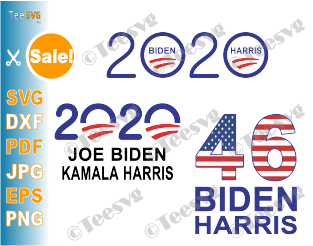 Biden Harris 2020 SVG PNG Bundle Joe Biden Kamala Harris Election Democrat Vote Shirt Digital art Flag clipart cut file
