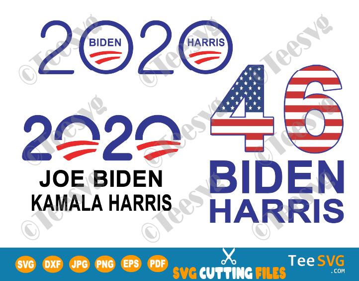Biden Harris 2020 SVG PNG Bundle Joe Biden Kamala Harris Election Democrat Vote Shirt Digital art Flag clipart cut file