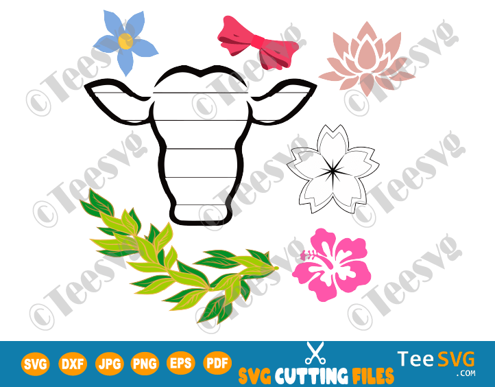 Cow Shiplap with Flowers Laser Ready SVG Animal Farm Ship lap PNG