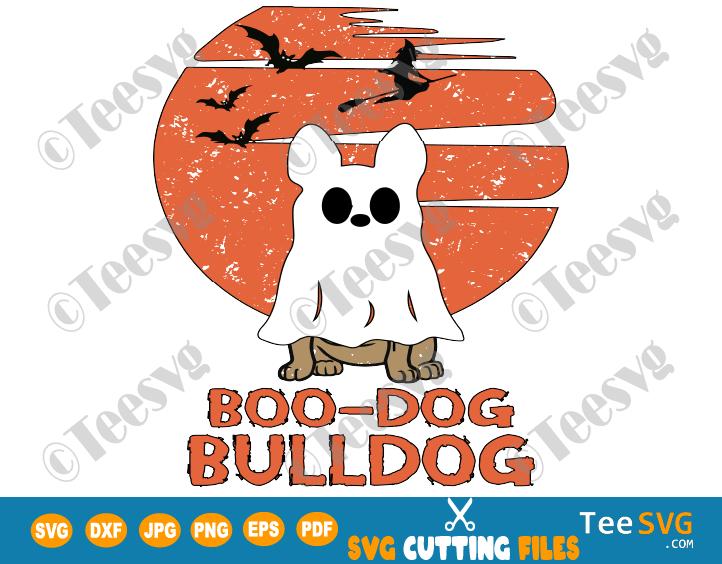 Bulldog Halloween SVG PNG Boo Dog Funny Puppy Boo-dog Ghost Costume Shirt Design bulldogs gift idea