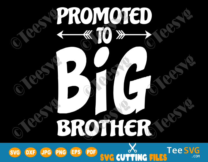 Promoted to Big Brother SVG New Bro Sibling Infant Toddler Kids PNG Cutting file Shirt Design Download