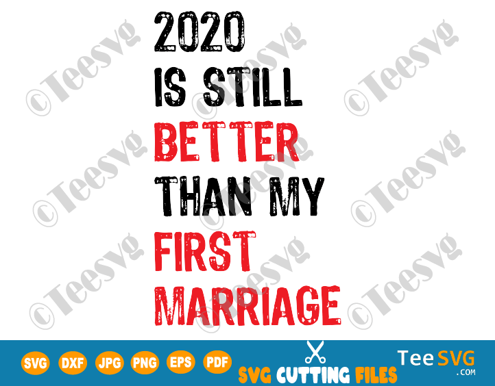 2020 Is Still Better Than My First Marriage SVG