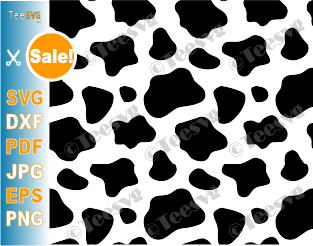 Cow Spots SVG File Cow Print Pattern PNG Vector Cow Spot Clipart Cows Decal Stencil Template