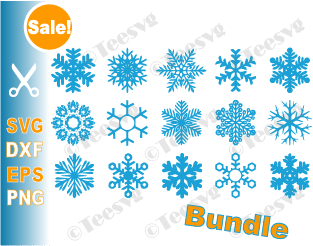 Snowflake SVG Cut File Bundle Frozen Snowflake SVG for Cricut 15 Snowflakes Cutout files Snow Flake PNG Icon Snow Flakes Download for Ornaments Monogram Cup