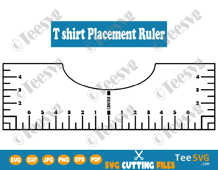 Tshirt Ruler SVG Guide T shirt Placement Ruler SVG T shirt Alignment Tool SVG File DIY Template Vinyl Glowforge Printable design Download Tee centering center ruler Decal