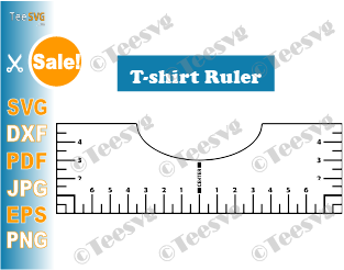 Tshirt Ruler SVG Guide T shirt Placement Ruler SVG T shirt Alignment Tool SVG File DIY Template Vinyl Glowforge Printable design Download Tee centering center ruler