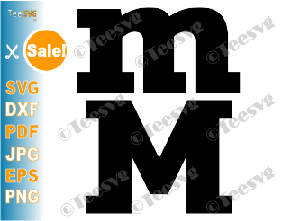 Letter M SVG File Uppercase and Lowercase Letter M Silhouette SVG Cricut Crafts letter M Monogram SVG Clipart Printable