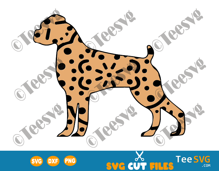 Boxer Mandala SVG File, Brown Boxer Dog Mandala SVG, Puppy Vector, Dog Breeds SVG Files for Cricut