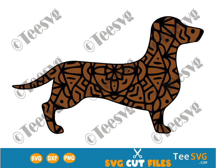 Dachshund Mandala SVG Files, Doxie Dachshunds Vector, Dog Mandala , Puppy Image, Dog Breeds SVG Files for Cricut