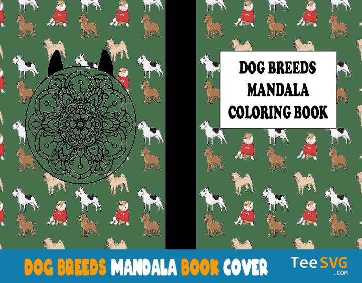 Dog Breeds Mandala Coloring book cover
