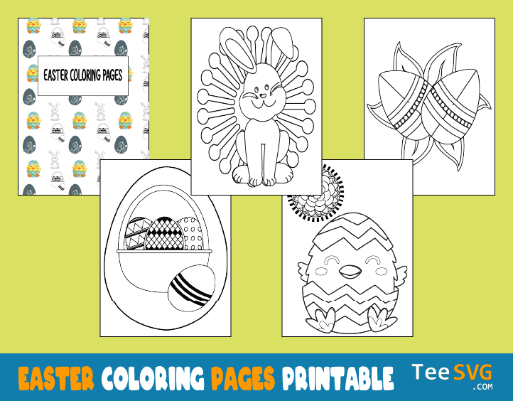 Easter Coloring Pages Printable Pdf Egg Bunny Basket Chick Mandala Coloring Book Sheets Images Pictures Pages Gifts for Preschoolers Prek Kids to Print