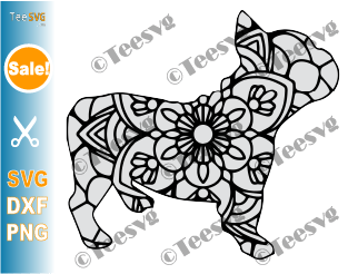 French Bulldog Mandala SVG, Frenchie SVG File, Dog Mandala SVG, Puppy, Dog Breeds SVG Files for Cricut