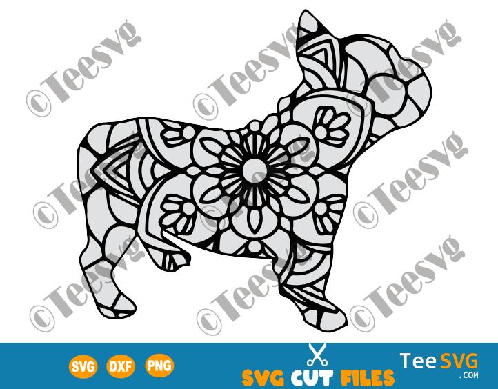 French Bulldog Mandala SVG, Frenchie SVG File, Dog Mandala SVG, Puppy, Dog Breeds SVG Files for Cricut