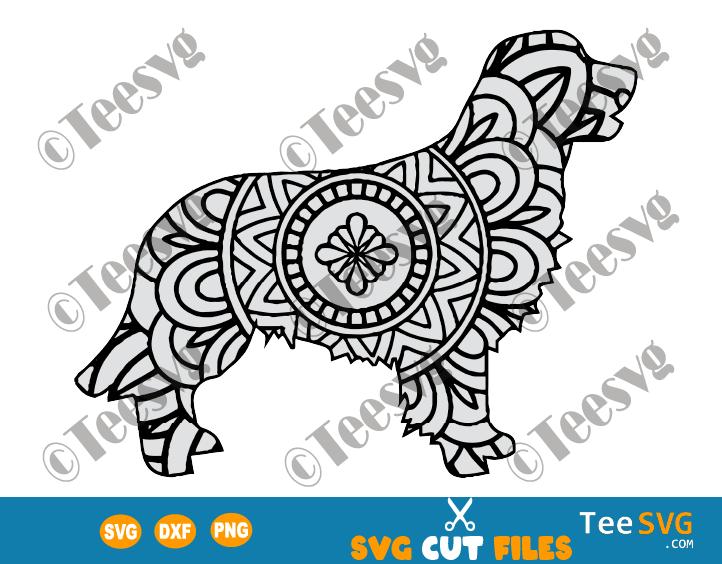 Golden Retriever Mandala SVG, Golden Retriever SVG File for Cricut, Dog Mandala SVG, Puppy, Dog Breeds SVG Files