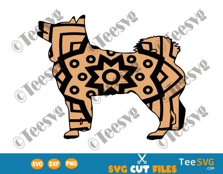 Husky Mandala SVG, Siberian Husky SVG Files, Dog Mandala SVG, Puppy Vector, Dog Breeds SVG Files for Cricut