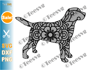 Labrador Mandala SVG, Labrador Retriever SVG File, Dog Mandala SVG, Puppy lab, Dog Breeds SVG Files for Cricut