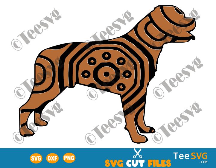 Rottweiler Mandala SVG, Rottie SVG File Vector, Dog Mandala SVG, Puppy Art, Dog Breeds SVG Files for Cricut