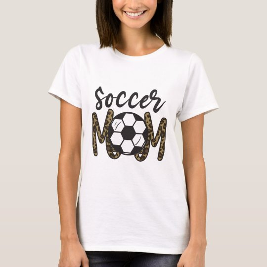 soccer mom leopard shirt funny soccer mom mother's day