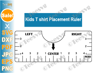 Kids T-shirt Alignment Ruler SVG T-shirt Ruler Guide Printable Template Tee Shirt Vinyl Ruler diy pdf
