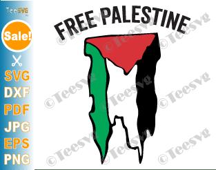 Free Palestine SVG PNG Palestinian Flag