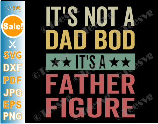 It's Not A Dad Bod It's A Father Figure SVG PNG Funny Father's Day Retro Vintage