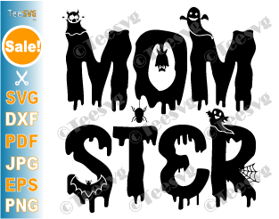 Halloween Mom SVG, Mom ster SVG, Momster SVG, Funny Halloween Shirt SVG, Spooky PNG Cut Files Cricut Silhouette