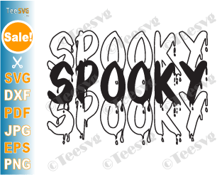 Spooky SVG, Halloween Shirt SVG, Spooky Shirt SVG, Spooky Vibes SVG, Halloween svg, Trick or Treat SVG, Ghost SVG, PNG, DCX Files for Cricut