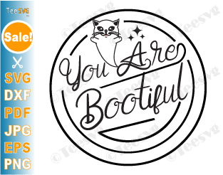 You are Bootiful SVG Cute Halloween Ghost Girl Cat Lover Shirt Gift Idea For Girls